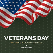 Veterans day poster, national army and soldier celebration. Honoring and history usa holiday military banner. Vector illustration
