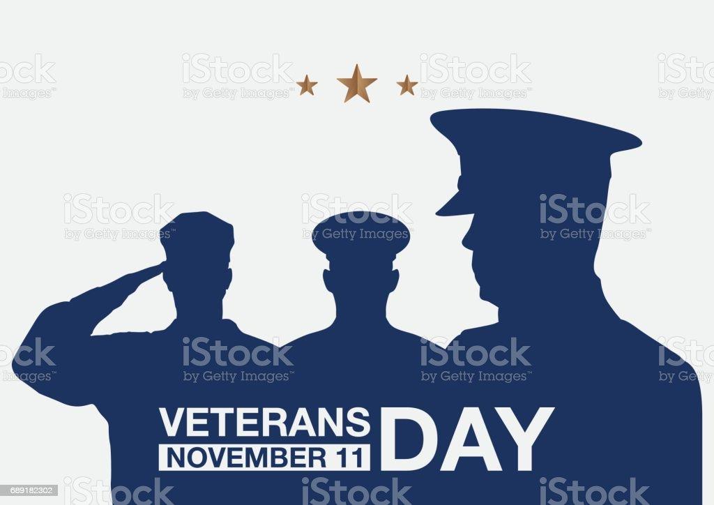 Veterans day promo banner. vector art illustration