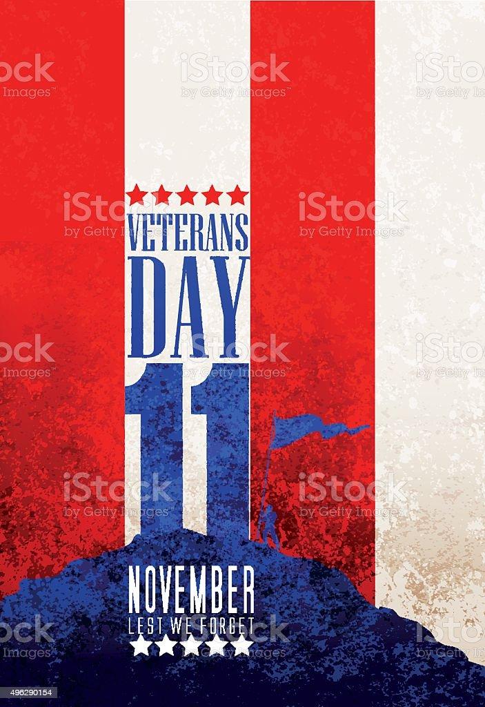 Veteran's Day, remebrance day, anzac day vector art illustration
