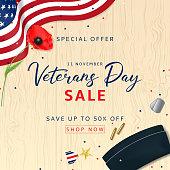 Veterans Day Sale Background