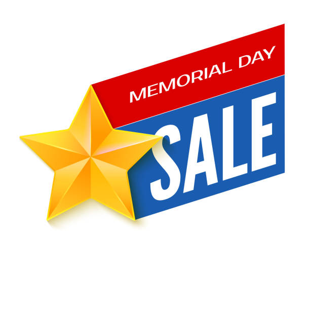 veterans day sale banner template. vector illustration. - memorial day weekend stock illustrations