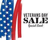Veterans Day sale banner