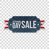 Veterans Day Sale realistic patriotic Sign