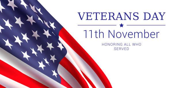 veterans day vector banner design template. - veterans day stock illustrations
