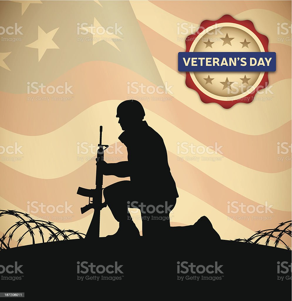 Veterans Day royalty-free stock vector art