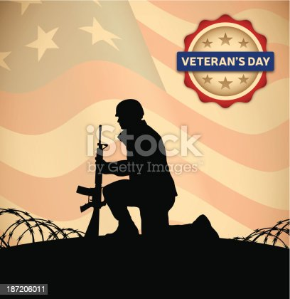 Veteran's Day Background with copy space. EPS 10 file. Transparency effects used on highlight elements.