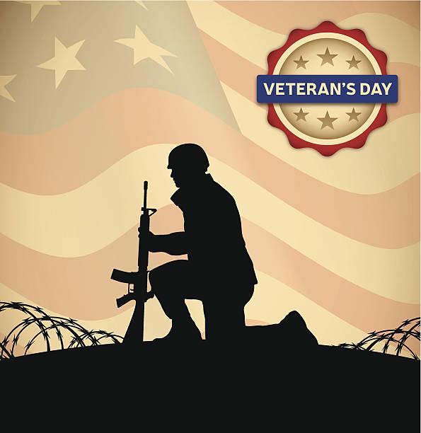 ilustraciones, imágenes clip art, dibujos animados e iconos de stock de día de los veteranos - personal militar