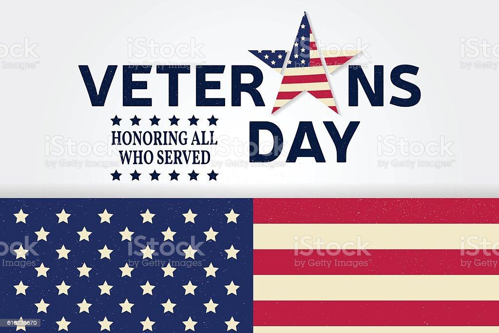 Veterans day. vector art illustration