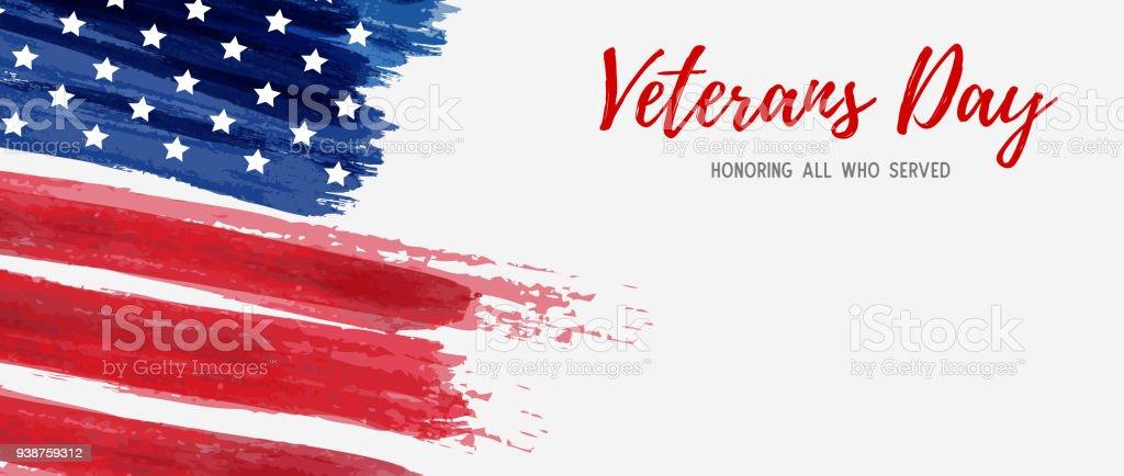 USA Veterans day vector art illustration