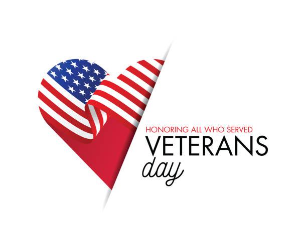 ilustraciones, imágenes clip art, dibujos animados e iconos de stock de ilustración de vector del día de los veteranos, en honor a todos los que sirvieron, bandera de ee.uu. ondeando sobre fondo azul. ilustración de stock - memorial day