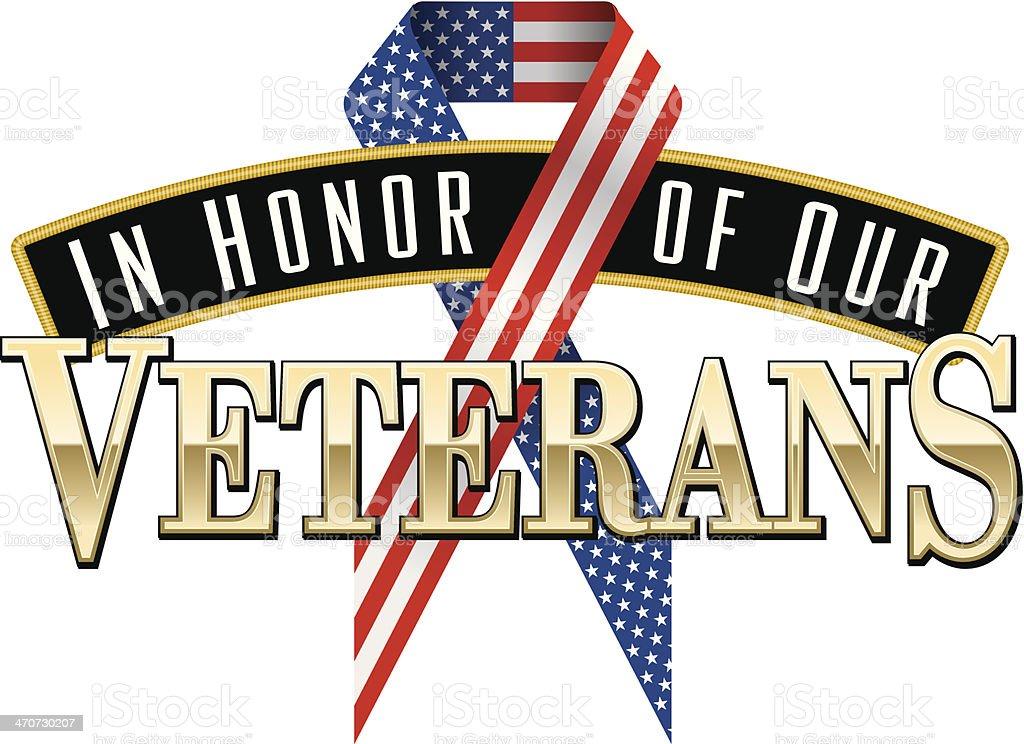 Veterans Heading C vector art illustration