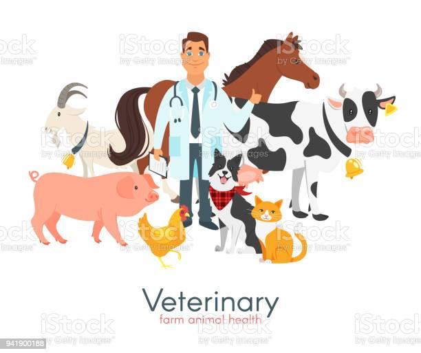 Veterinarian doctor with farm animals vector id941900188?b=1&k=6&m=941900188&s=612x612&h=jvujg5cwkm62 jebgolyrngdeaaczzuzd2vkl d9fay=