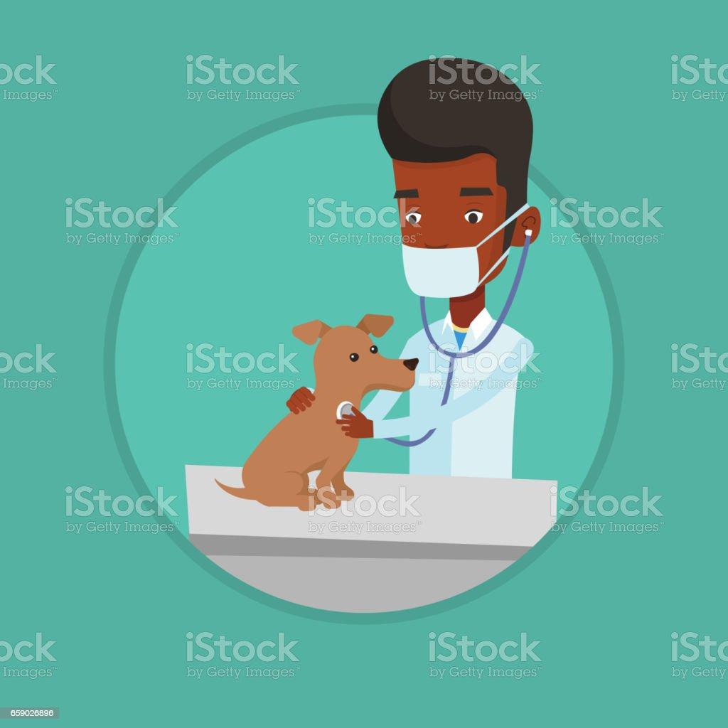 Veterinarian examining dog vector illustration royalty-free veterinarian examining dog vector illustration stock vector art & more images of biomedical illustration