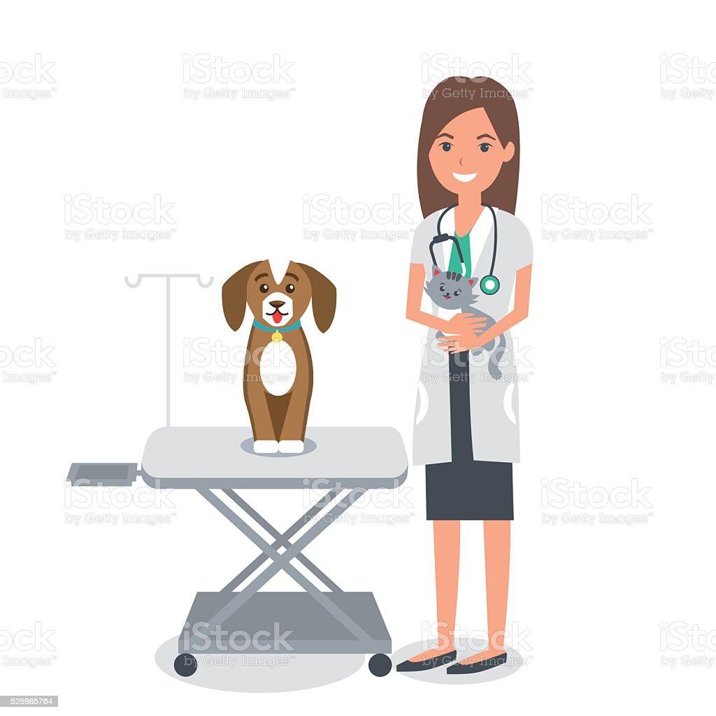 Veterinario - ilustración de arte vectorial