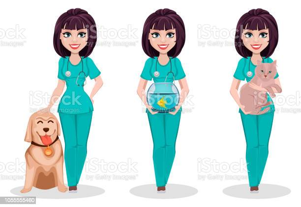 Veterinarian woman set of three poses vector id1055555460?b=1&k=6&m=1055555460&s=612x612&h=vag 2horvovhhrlh5papwf1aeywzzgdwx7ya6wtl8jm=