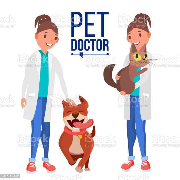 Veterinarian woman vector dog and cat clinic for animals pet doctor vector id907746112?b=1&k=6&m=907746112&s=612x612&h=01orpzrj8nuczz denyzlln tfw3bobqq3yyrd7l 4k=