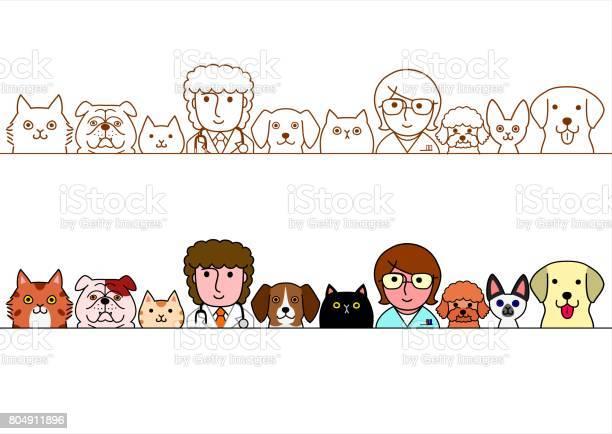 Veterinarians and pet cats and dogs border set vector id804911896?b=1&k=6&m=804911896&s=612x612&h=x prgzsxrmpv 51 dmpj14gvnih2 ffbnpu1cywppyo=