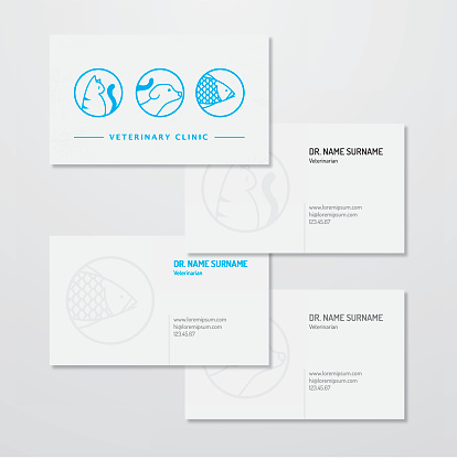 Veterinary clinic logo and business card design