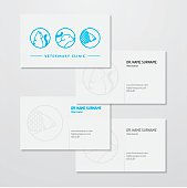Veterinary clinic logo and business card design.  All design elements are layered and grouped. Eps10, contains transparent objects.
