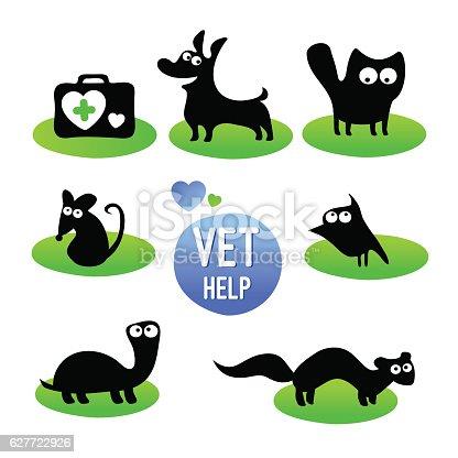 Veterinary clinic. Pet vet help.