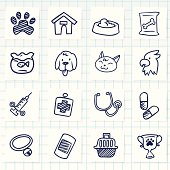 Vector File of Doodle Veterinary Icon Set