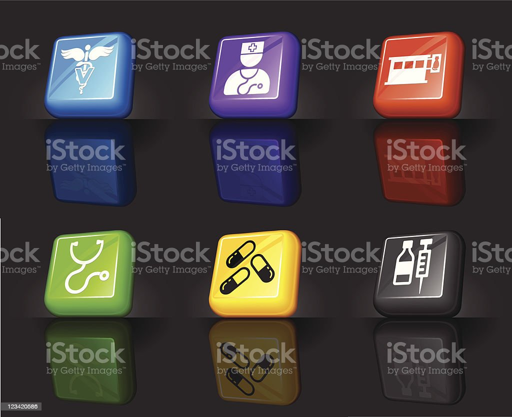 Veterinary internet royalty free vector icon set royalty-free stock vector art