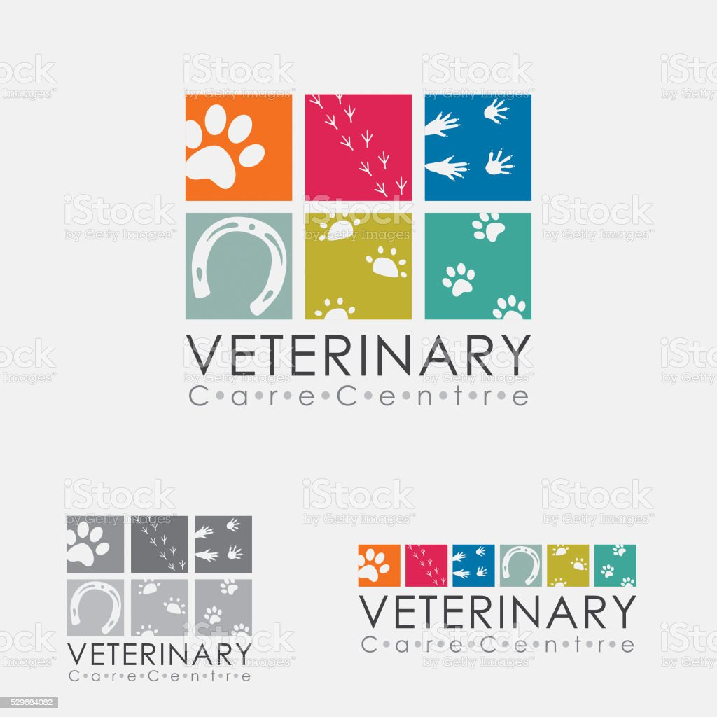 Logotipo de veterinarios - ilustración de arte vectorial