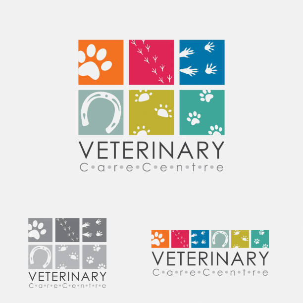 stockillustraties, clipart, cartoons en iconen met veterinary logo - dierenziekenhuis