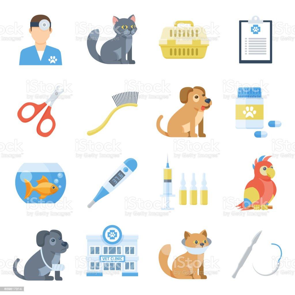 Fabuloso Conjunto De Desenhos Animados De Medicina Veterinária - Arte  EV21