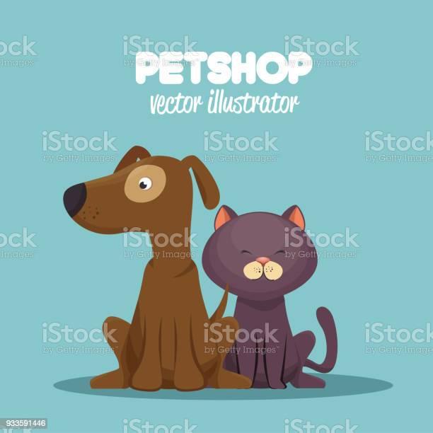 Veterinary pet shop cat and dog sitting graphic vector id933591446?b=1&k=6&m=933591446&s=612x612&h=qdaan30ybjublaydqgxqpkvrjo5r1xn2yfaiffqkoei=
