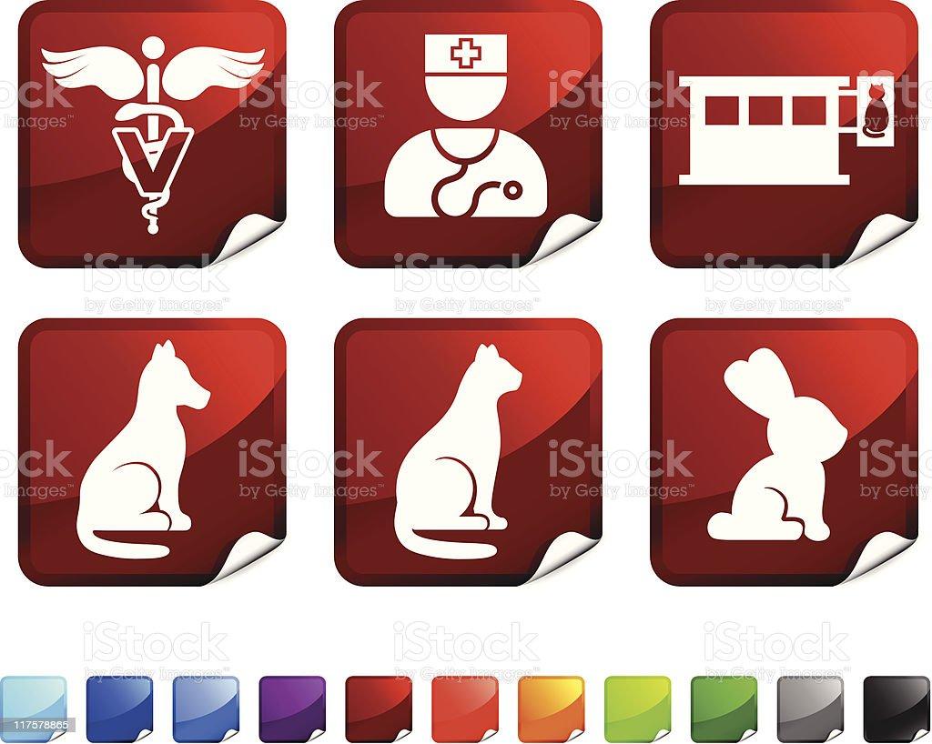Veterinary royalty free vector icon set stickers royalty-free veterinary royalty free vector icon set stickers stock vector art & more images of animal