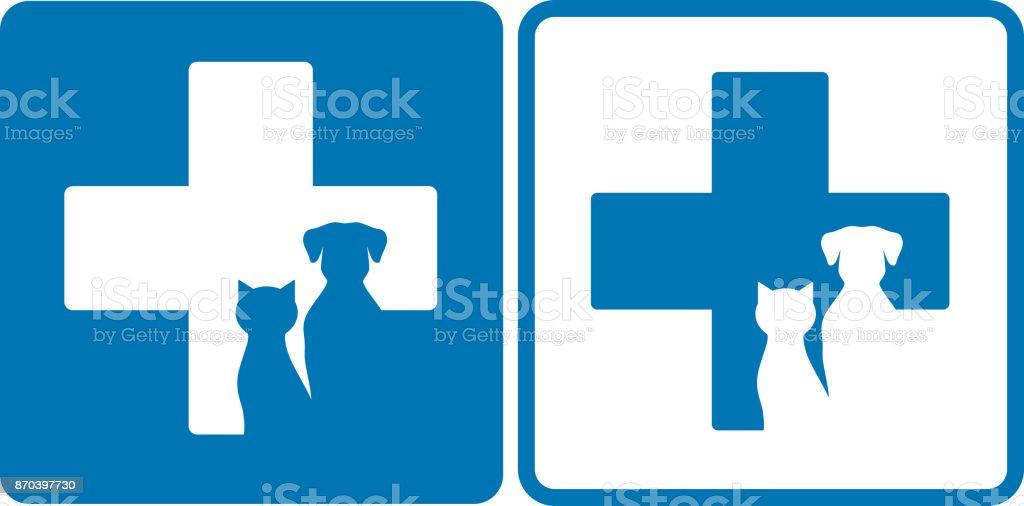 símbolo de veterinaria - ilustración de arte vectorial