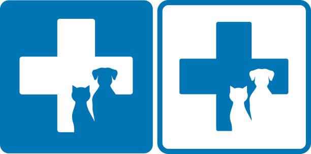 veterinary symbol - veterinarian stock illustrations, clip art, cartoons, & icons