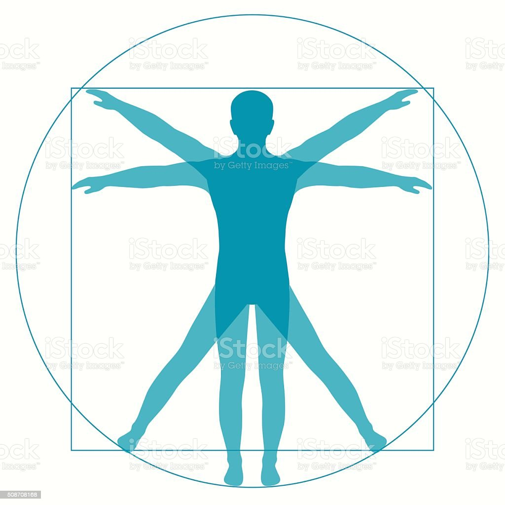 Vetruvian homme - Illustration vectorielle