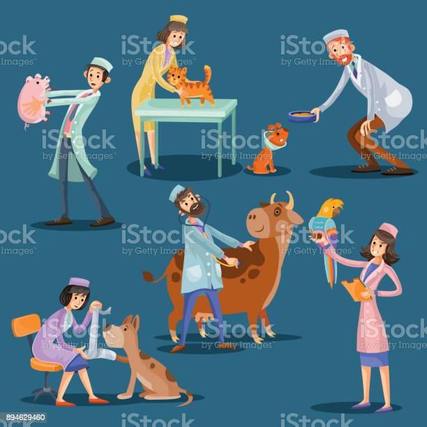 Vets with cute pets cartoon vector illustration vector id894629460?b=1&k=6&m=894629460&s=612x612&h=00gq3djczm5c821nn1ooegzjddcles5gq2z13i lxbs=