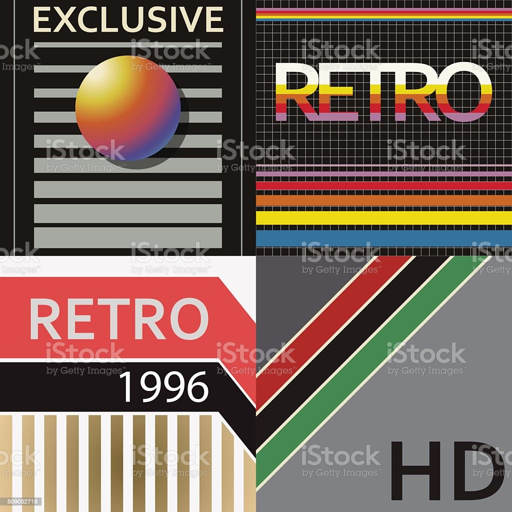 vhs cover style vector art illustration