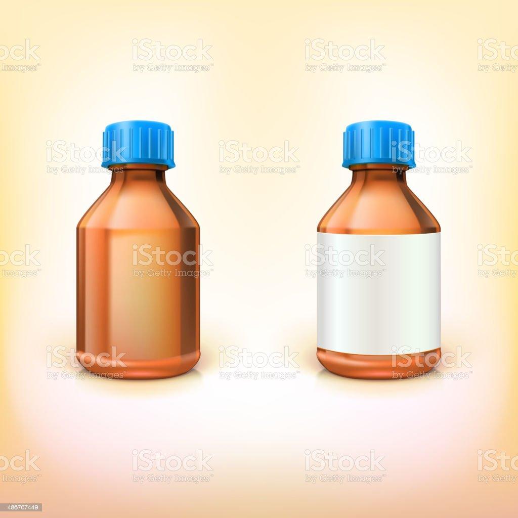 Vial for drugs. vector art illustration