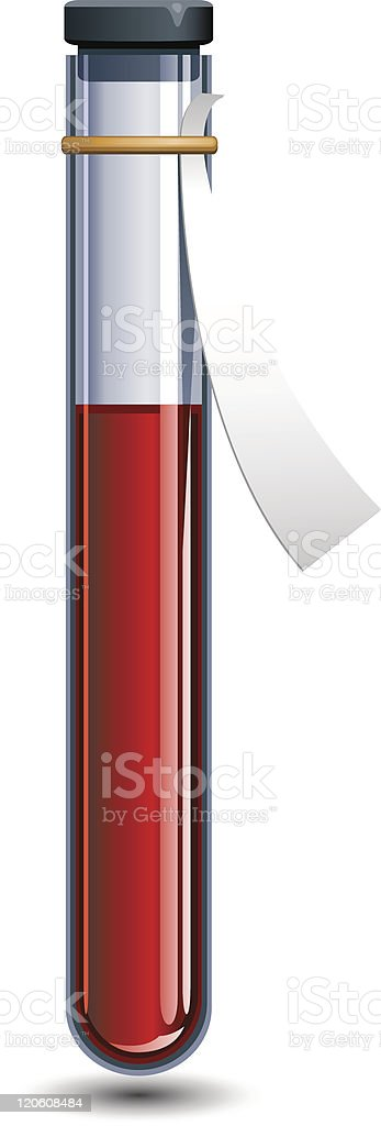 Vial of blood vector art illustration