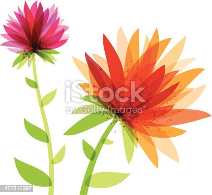 istock Vibrant Abstract Flowers 472312097