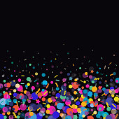 Vibrant celebration confetti background.