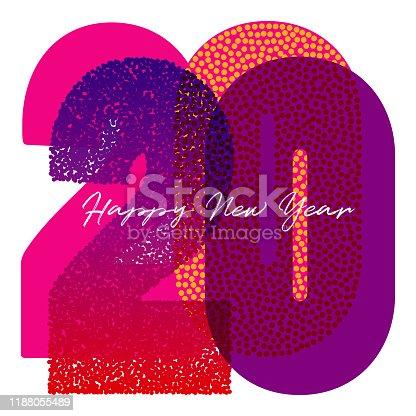 istock 2020 Vibrant Colored Logotype Happy New Year 1188055489