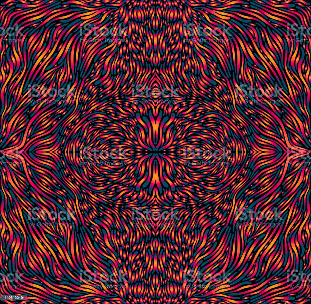 Vibrant Colorful Psychedelic Trippy Mandala Bright Gradient