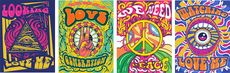 Vibrant colorful We Need Peace design