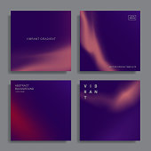 Set of abstract backgrounds with vibrant gradient shapes. Design template for covers, placards, posters, flyers, presentations, cards, banners, advertisement, identity. Vector illustration. Eps10