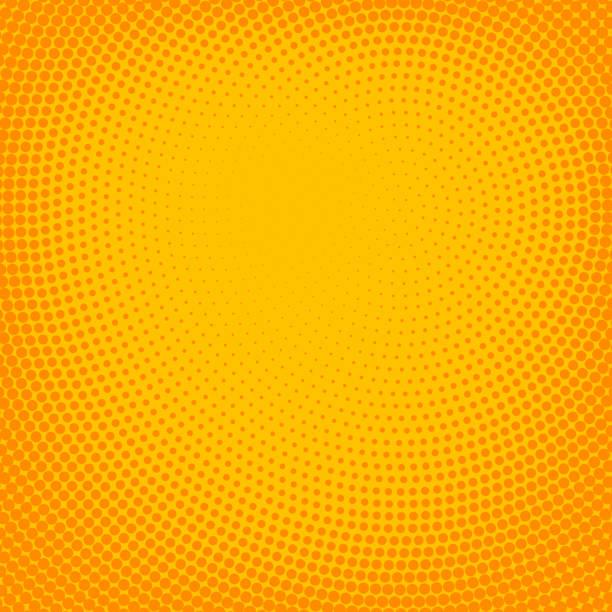 bildbanksillustrationer, clip art samt tecknat material och ikoner med pulserande halvton fläckig bakgrund - orange bakgrund