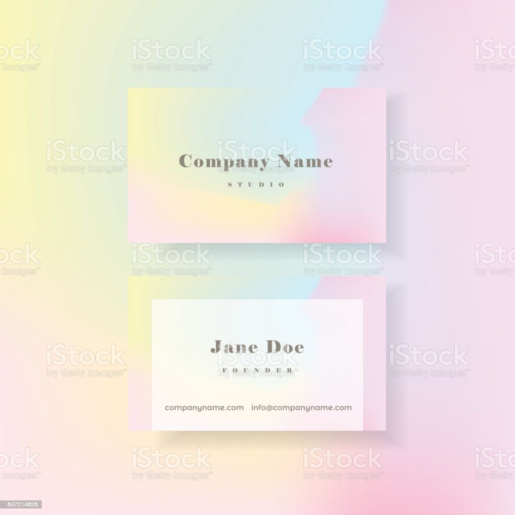 Vibrant holographic business card template in minimal style stock vibrant holographic business card template in minimal style royalty free stock vector art magicingreecefo Image collections