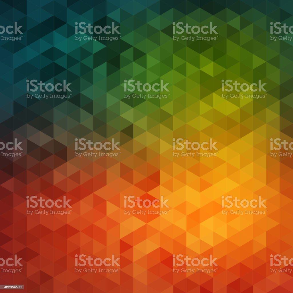 Vibrant mosaic background vector art illustration