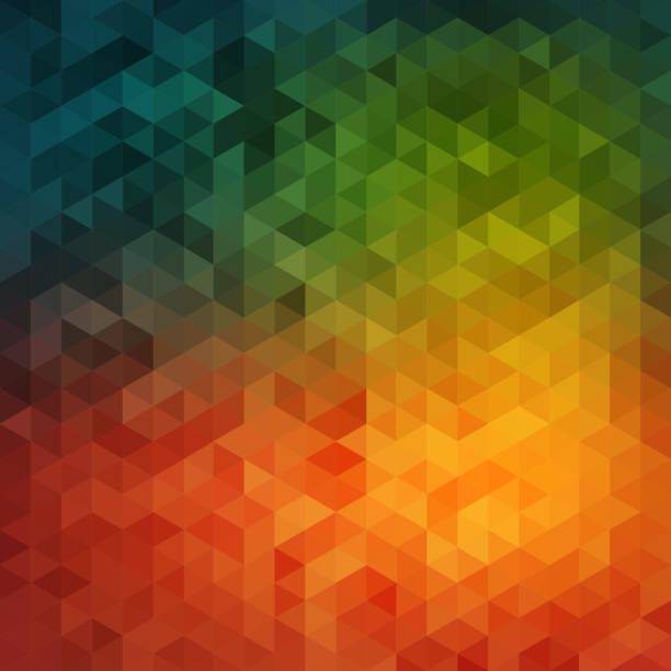 stockillustraties, clipart, cartoons en iconen met vibrant mosaic background - triangel