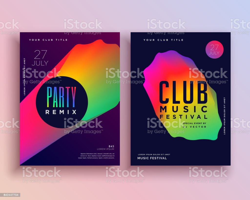 Vibrant Music Party Flyer Template Design Stock Vector Art More