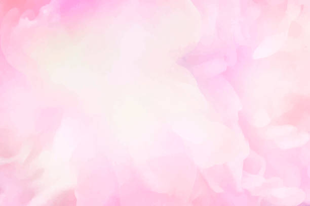Vibrant pink watercolor painting background vector art illustration